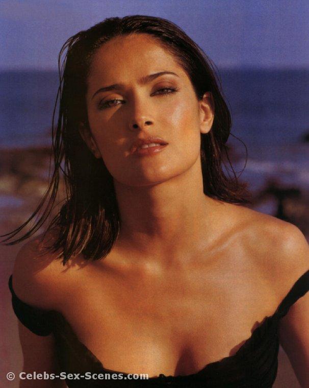 salma hayek nude beach scene
